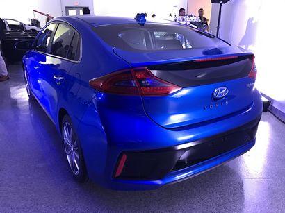 2017 Hyundai Ioniq Hybrid rear 3/4 view