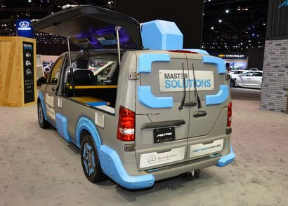 Mercedes-Benz Metris MasterSolutions Toolbox Concept rear 3/4 view