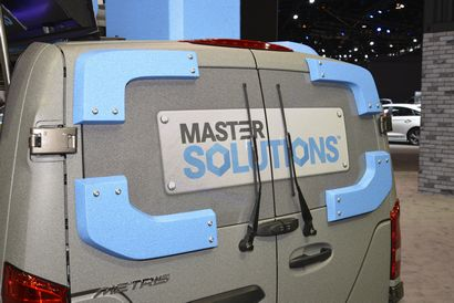 Mercedes-Benz Metris MasterSolutions Toolbox Concept rear window detail