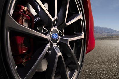 2018 Subaru WRX alloy wheel and front brake caliper