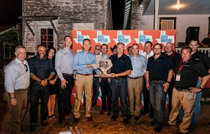 Texas Auto Writers and Doug Scott with the Truck of Texas award