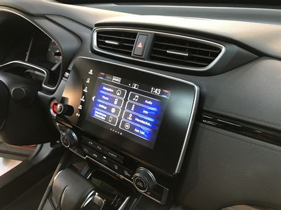 2017 Honda CRV Touring center stack detail with 7-inch touch screen
