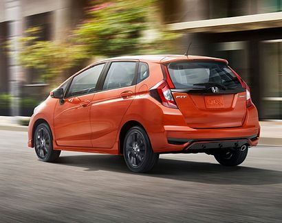 2018 Honda Fit Sport rear 3/4 view