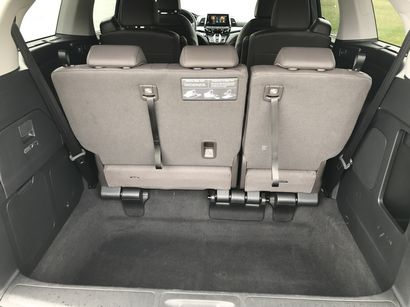 2018 Honda Odyssey Elite storage behind the third row