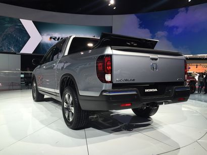2017 Honda Ridgeline rear 3/4 view