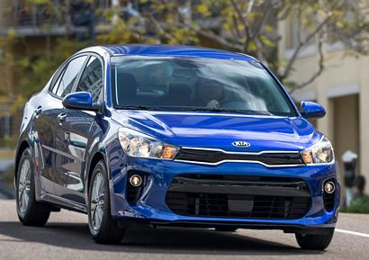 2018 Kia Rio sedan front 7/8 view