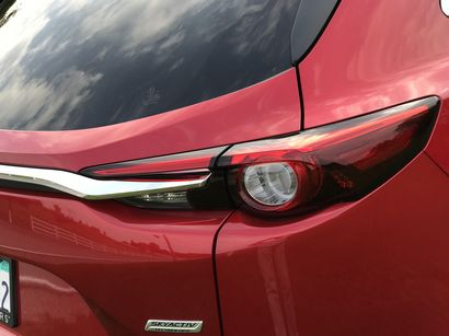 2016 Mazda CX-9 Grand Touring AWD taillamp and rear trim detail