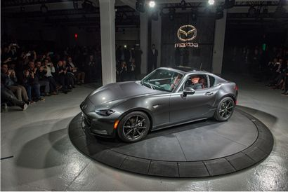 2017 Mazda MX-5 Miata RF intro side 7/8 top in place
