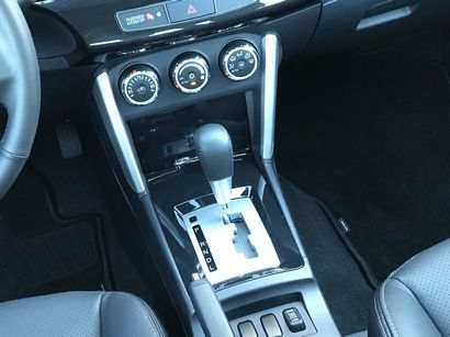 2017 Mitsubishi Lancer 2.4 SEL AWC lower center stack and shifter