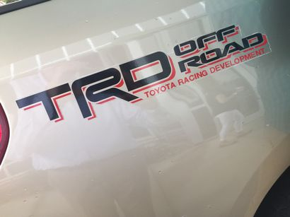 2007 million-mile Toyota Tundra TRD rear quarter logo