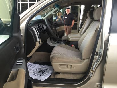 2007 million-mile Toyota Tundra front seat