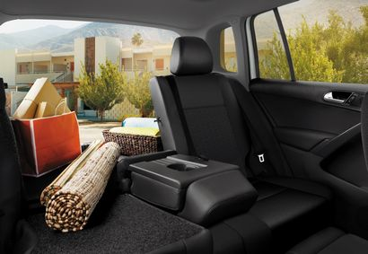 2017 Volkswagen Tiguan Limited showing rear seat and cargo area